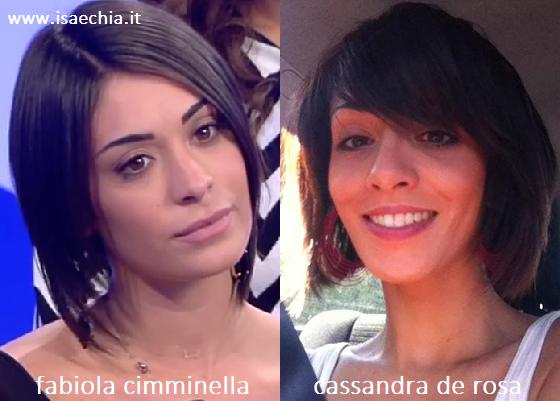 Somiglianza tra Fabiola Cimminella e Cassandra De Rosa