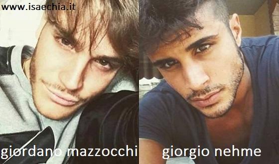 Somiglianza tra Giordano Mazzocchi e Giorgio Nehme
