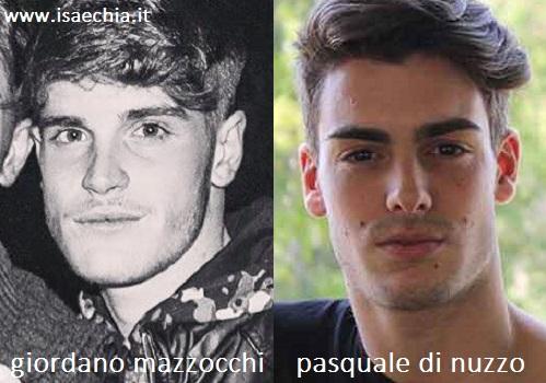 Somiglianza tra Giordano Mazzocchi e Pasquale Di Nuzzo