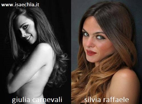 Somiglianza tra Giulia Carnevali e Silvia Raffaele