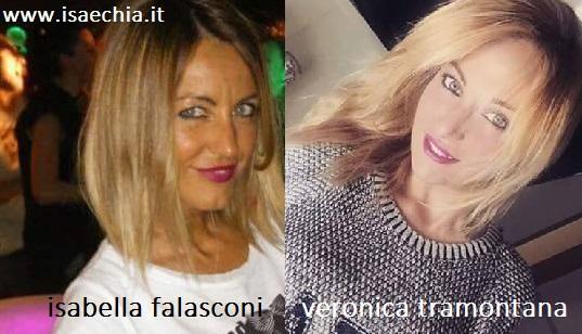 Somiglianza tra Isabella Falasconi e Veronica Tramontana