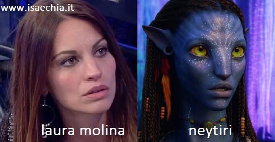 Somiglianza tra Laura Molina e Neytiri di 'Avatar'