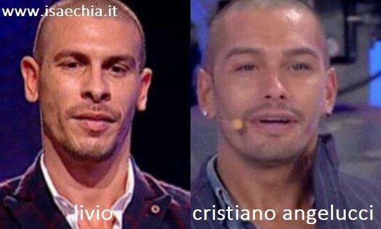 Somiglianza tra Livio e Cristiano Angelucci