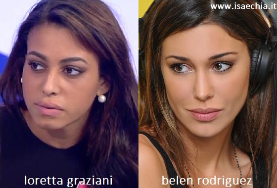 Somiglianza tra Loretta Graziani e Belen Rodriguez