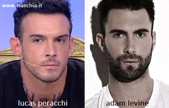 Somiglianza tra Lucas Peracchi e Adam Levine