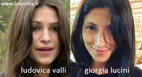Somiglianza tra Ludovica Velli e Giorgia Lucini