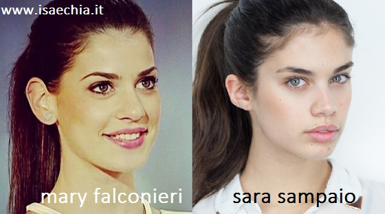 Somiglianza tra Mary Falconieri e Sara Sampaio