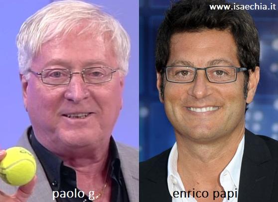 Somiglianza tra Paolo G. ed Enrico Papi