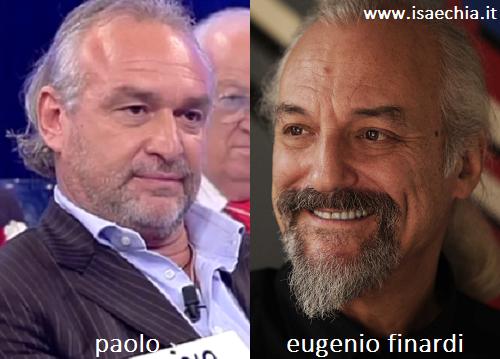 Somiglianza tra Paolo ed Eugenio Finardi