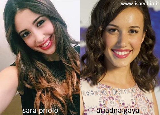 Somiglianza tra Sara Priolo ed Ariadna Gaya