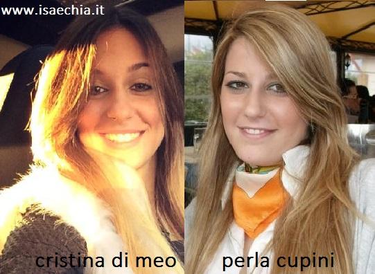 Somiglianza tra Cristina Di Meo e Perla Cupini