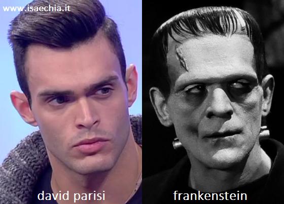Somiglianza tra David Parisi e Frankenstein
