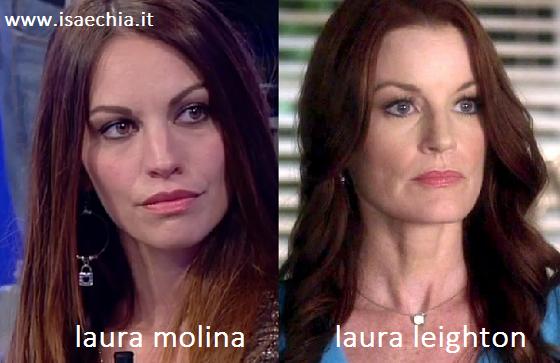 Somiglianza tra Laura Molina e Laura Leighton