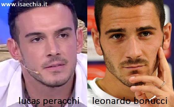 Somiglianza tra Lucas Peracchi e Leonardo Bonucci