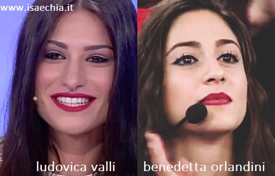 Somiglianza tra Ludovica Valli e Benedetta Orlandini