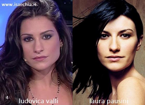 Somiglianza tra Ludovica Valli e Laura Pausini