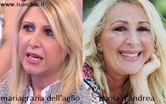 Somiglianza tra Mariagrazie Dell'Aglio e Paola D'Andrea
