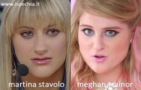 Somiglianza tra Martina Stavolo e Meghan Trainor