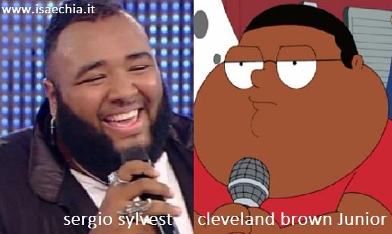 Somiglianza tra Sergio Sylvestre e Cleveland Brown Junior