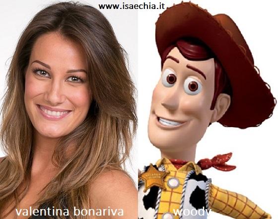 Somiglianza tra Valentina Bonariva e Woody di 'Toy Story'