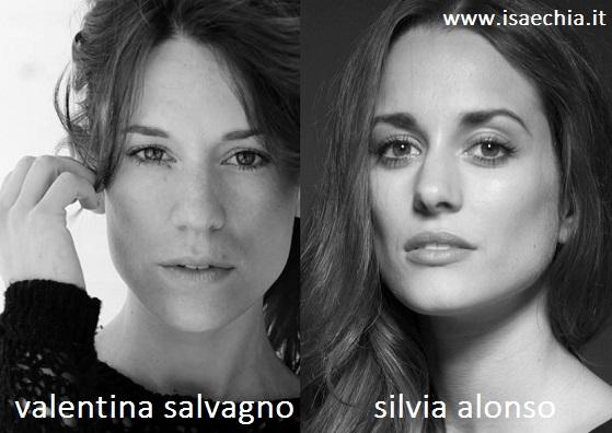 Somiglianza tra Valentina Salvagno e Silvia Alonso