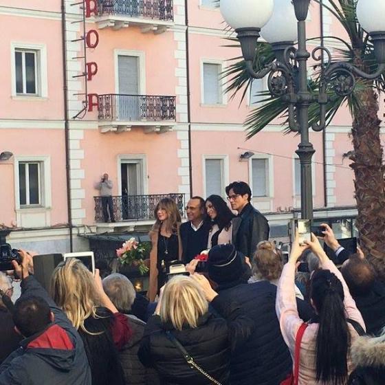 Carlo Conti, Madalina Ghenea, Virginia Raffaele e Gabriel Garko