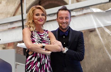 Francesco Facchinetti e Simona Ventura