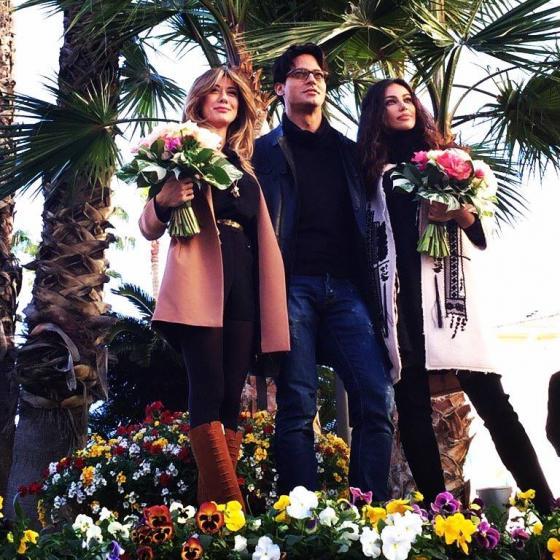 Gabriel Garko, Madalina Ghenea e Virginia Raffaele