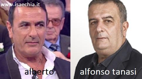 Somiglianza tra Alberto, cavaliere del Trono over, e Alfonso Tanasi