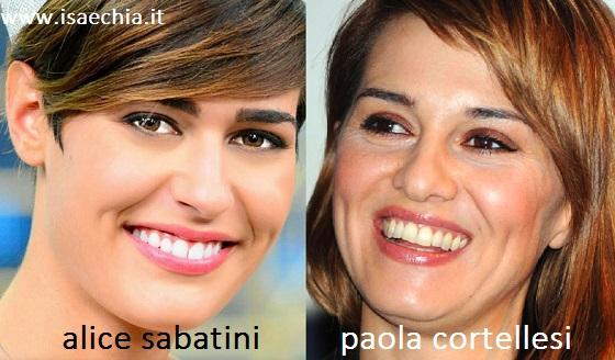 Somiglianza tra Alice Sabatini e Paola Cortellesi