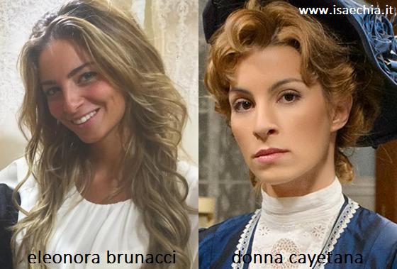 Somiglianza tra Eleonora Brunacci e Donna Cayetana di 'Una Vita'