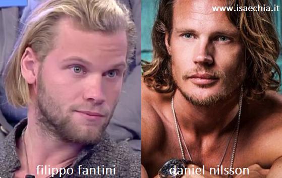 Somiglianza tra Filippo Fantini e Daniel Nilsson