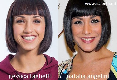 Somiglianza tra Gessica Taghetti e Natalia Angelini