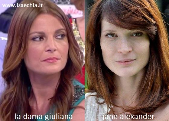 Somiglianza tra Giuliana e Jane Alexander