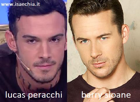 Somiglianza tra Lucas Peracchi e Barry Sloane