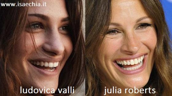 Somiglianza tra Ludovica Valli e Julia Roberts