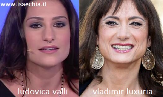 Somiglianza tra Ludovica Valli e Vladimir Luxuria