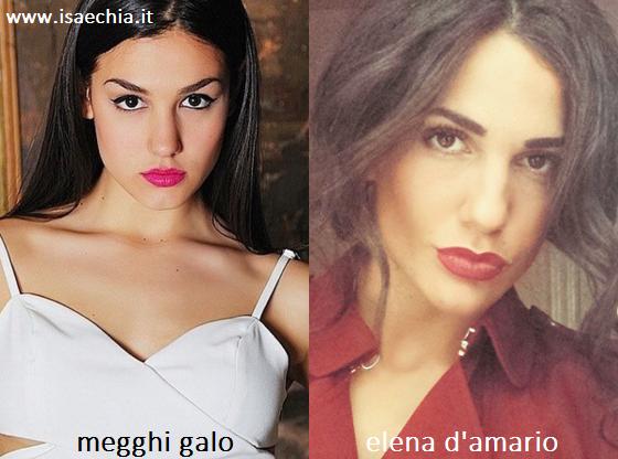 Somiglianza tra Megghi Galo ed Elena D'Amario