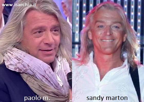 Somiglianza tra Paolo M. e Sandy Marton