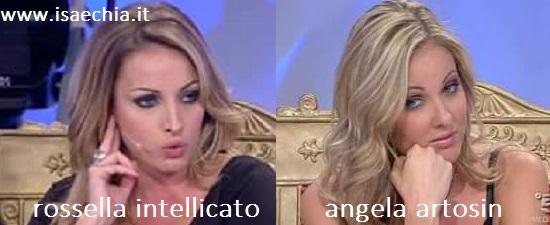 Somiglianza tra Rossella Intellicato e Angela Artosin