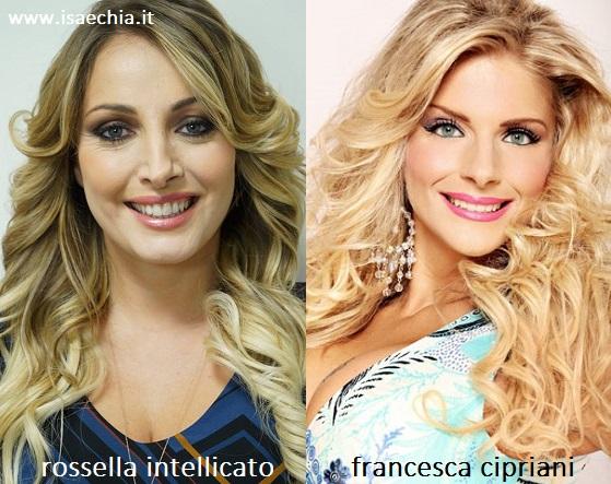 Somiglianza tra Rossella Intellicato e Francesca Cipriani
