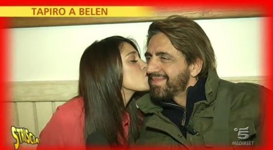 Belen Rodriguez e Valerio Staffelli
