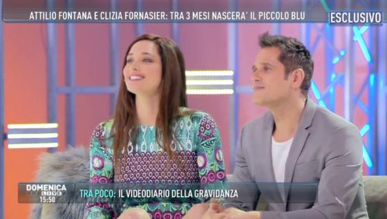 Domenica Live - Attilio Fontana e Clizia Fornasier