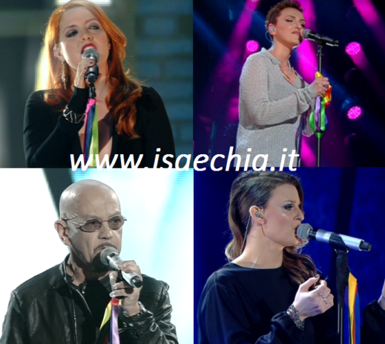 Noemi, Arisa, Enrico Ruggeri e Irene Fornaciari