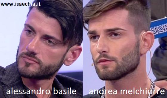 Somiglianza tra Alessandro Basile e Andrea Melchiorre