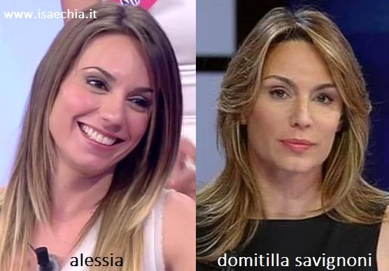 Somiglianza tra Alessia e Domitilla Savignoni