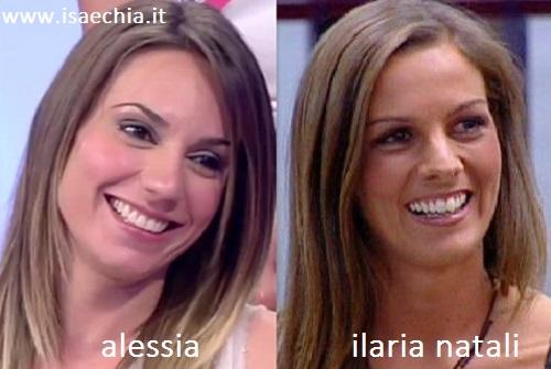 Somiglianza tra Alessia e Ilaria Natali