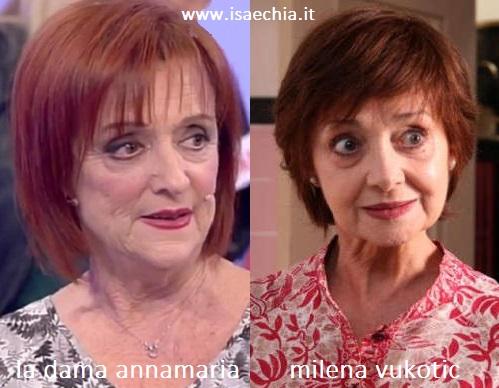 Somiglianza tra Annamaria e Milena Vukotic