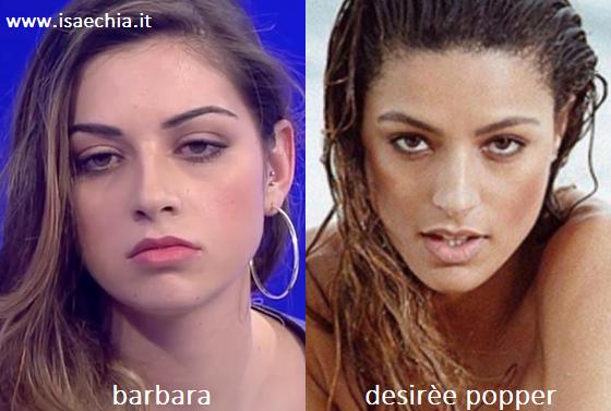 Somiglianza tra Barbara e Desirèe Popper