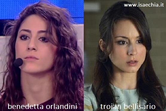 Somiglianza tra Benedetta Orlandini e Troian Bellisario